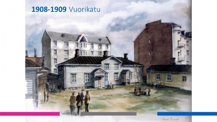 Mercuria Vuorikadulla vuosina 1908-1909.