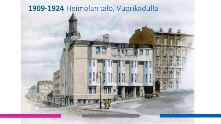 Mercuria Heimolantalolla vuosina 1909-1924.