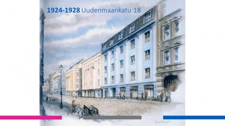 Mercuria Uudenmaankadulla vuosina 1924-1928.