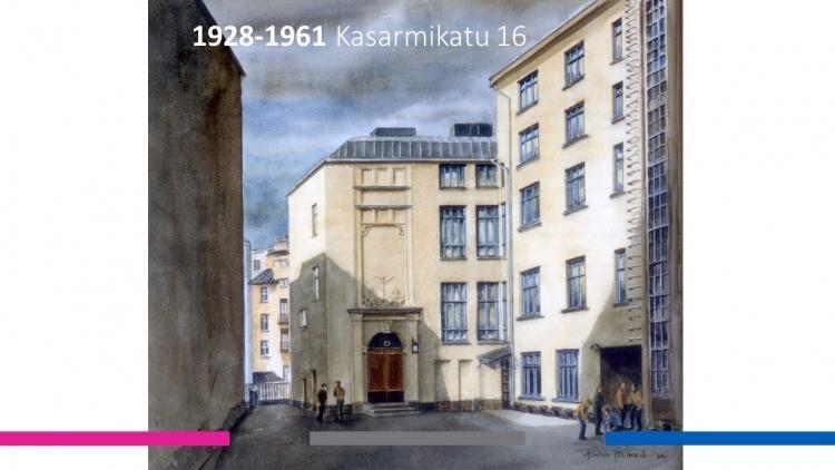 Mercuria Kasarmikadulla vuosina 1928-1961.