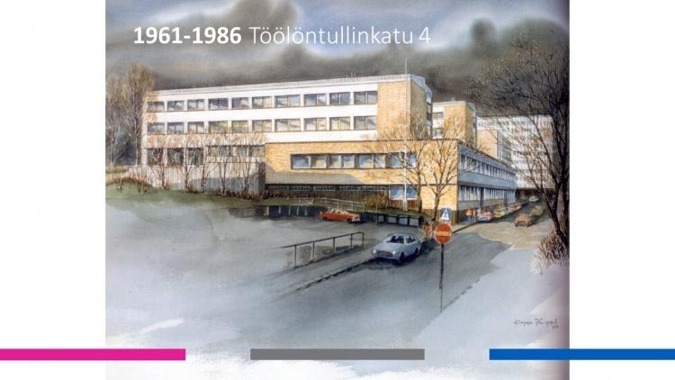 Mercuria Töölöntullinkadulla vuosina 1961-1986.